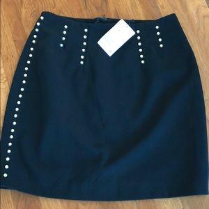 H&M Black & gold studded mini skirt. NWT!!